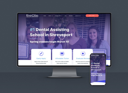 River Cities School of Dental Assisting web design showcase