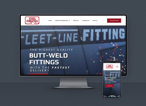 Steel Forgings web design showcase
