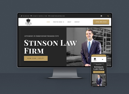 Stinson Law Firm web design showcase